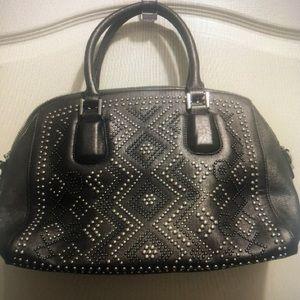 Studded bowling bag style purse